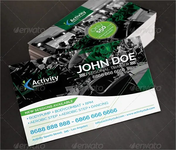 22+ Fitness Business Cards - Free PSD, AI, Vector, EPS Format