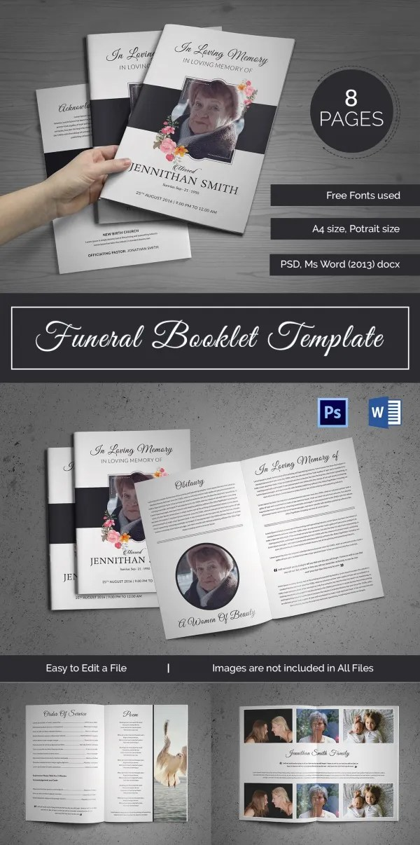 20+ Funeral Booklet Templates - Free PSD, AI, Vector, EPS Format - booklet templates