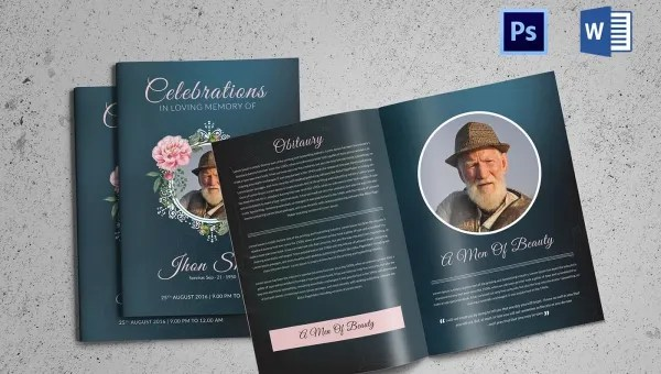 5+ Funeral Booklet Templates - Word, PSD Format Download Free