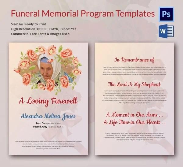 5 Funeral Memorial Program Templates - Word, PSD Format Download - free download funeral program template