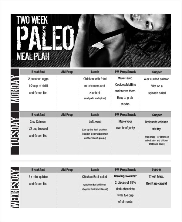 Weekly Meal Planner - 10+ Free PDF, PSD Documents Download Free - how to plan weekly meals for two
