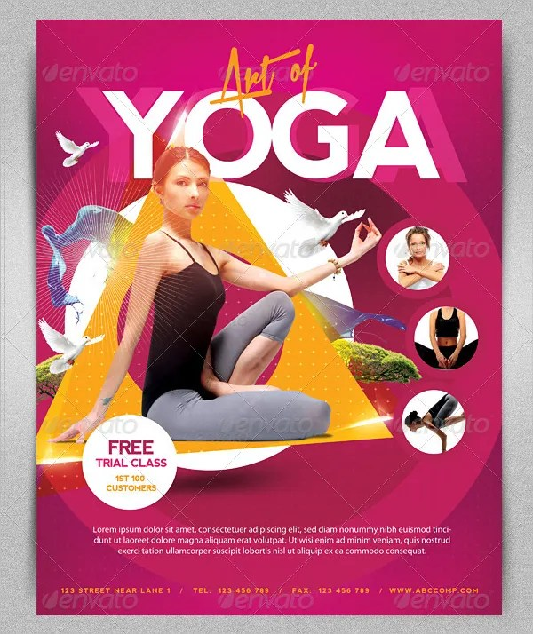 yoga flyer templates - Peopledavidjoel