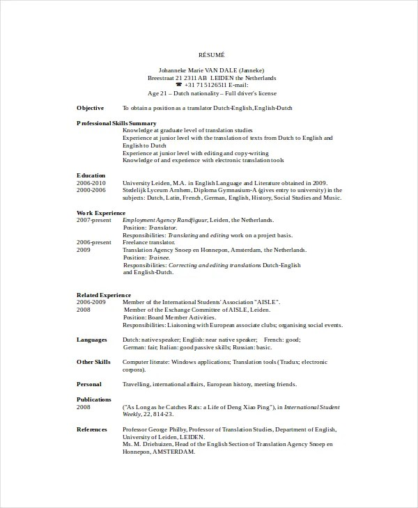 Freelance Resume Template - 6+ Free Word, PDF Documents Download