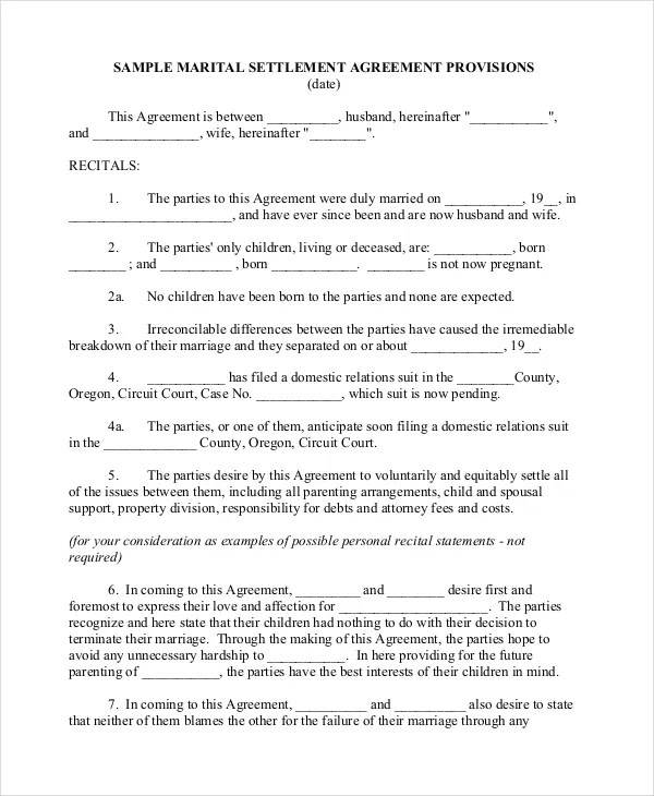 Separation Notice Template - 13+ Free Word, PDF Document Downloads - parenting plan example