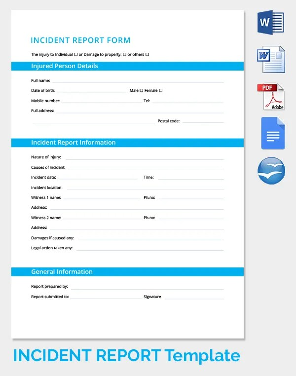 Security Incident Report Template  Event Planning Template Downloads