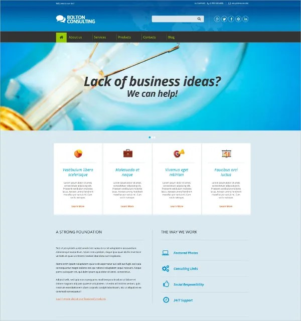 5+ Consulting Drupal Themes  Templates Free  Premium Templates