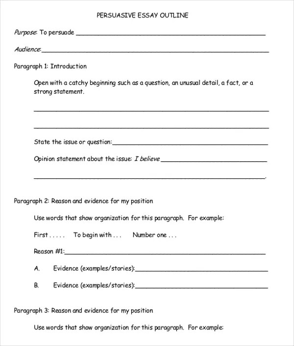 argument essay outline template how an essay looks typed esl - outline template