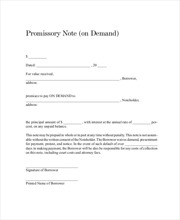 18+ Promissory Note Templates - Google Docs, MS Word, Apple Pages