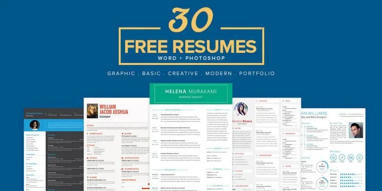 Resume Template - 71+ Free Resume Templates in Word, PSD  MAC - Free Word Resume