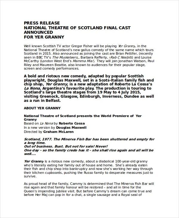 album press release template - Minimfagency - press release template