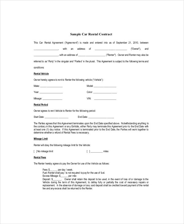 Blank Lease Template - 6+ Free Word, PDF Documents Download Free - lease document template