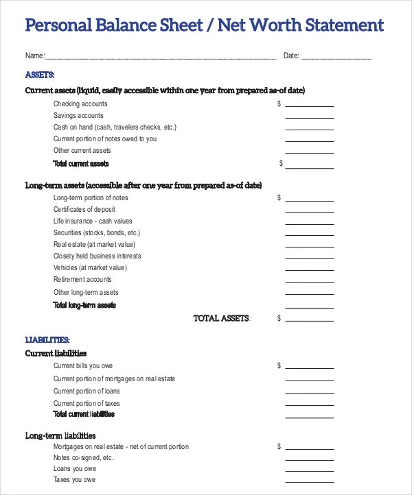 18+ Balance Sheet Examples - Download in Word, PDF Free  Premium