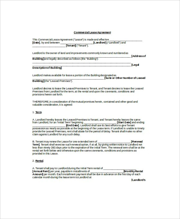 13+ Sample Lease Agreement Templates - Word, PDF, Pages Free