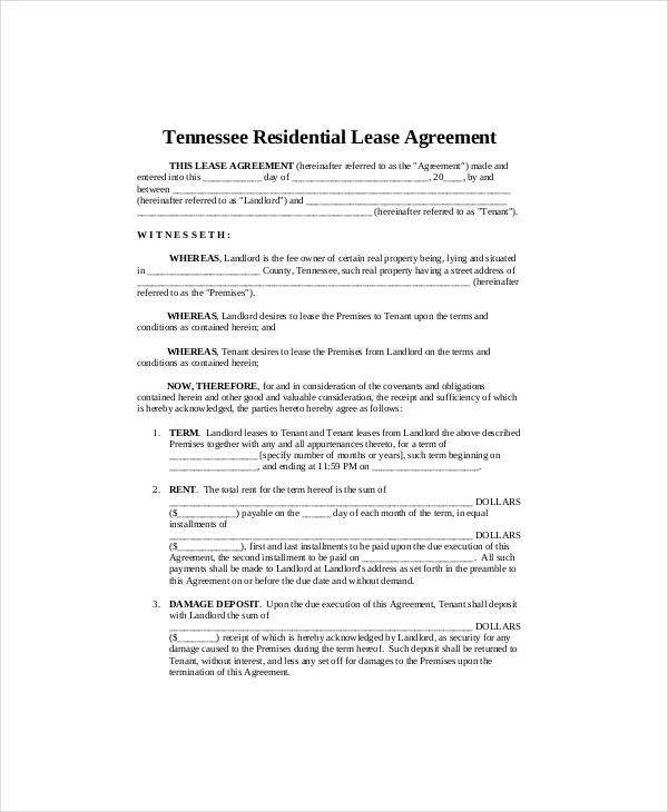 7+ Residential Lease Templates - Free Sample, Example, Format Free