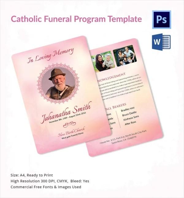 17+ Funeral Program Templates Free  Premium Templates