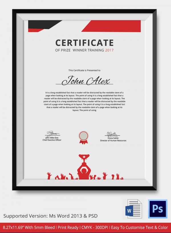 Prize Certificates Templates Free - mandegarinfo - prize certificate template free
