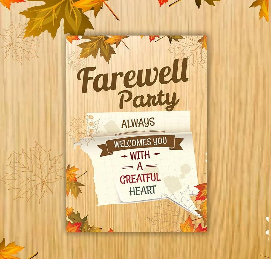 30+ Free Invitation Templates - Wedding, Birthday, Dinner, Reunion - farewell invitations templates