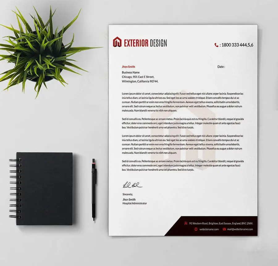 24+ Free Letter Head Templates - Education, Architecture, Hospital