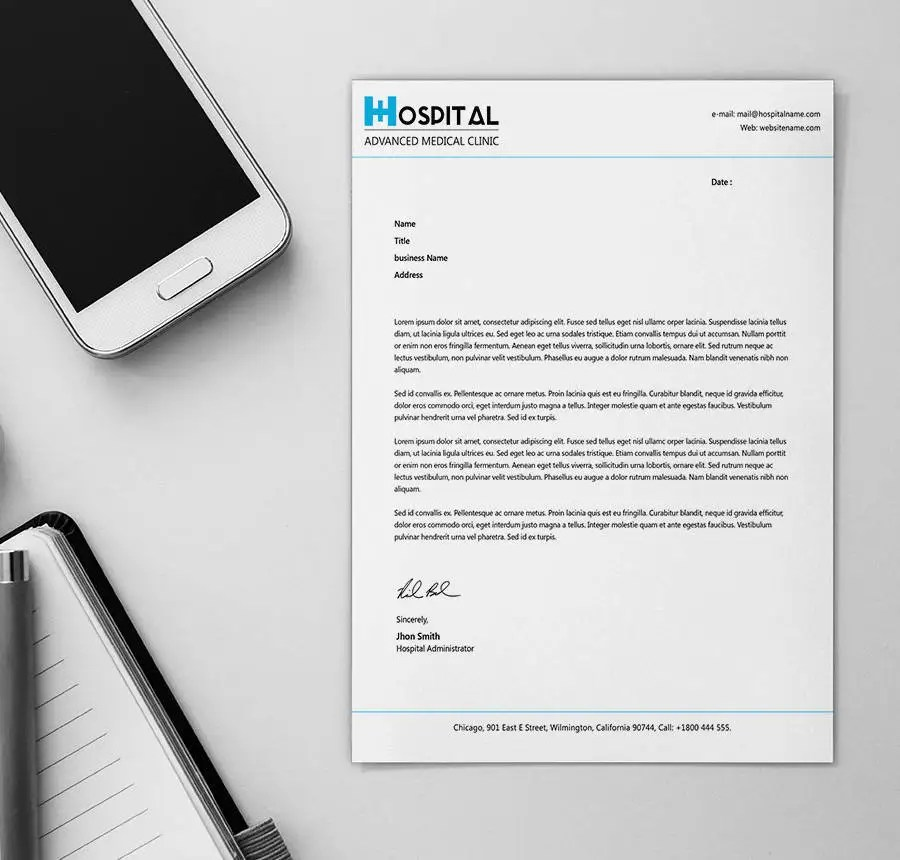 24+ Free Letter Head Templates - Education, Architecture, Hospital - document desing
