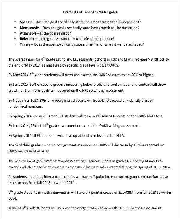11+ Smart Goals Examples Free  Premium Templates