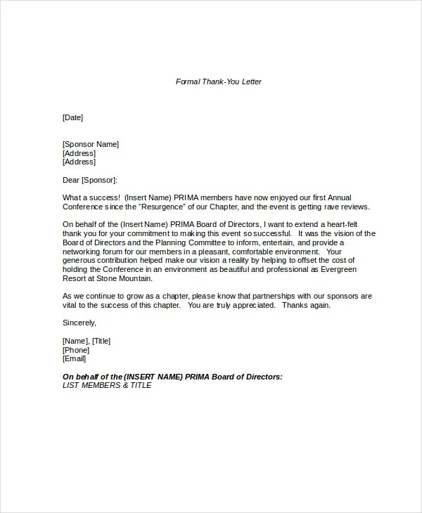 Formal Letter Format - 11+ Free Word, PDF Documents Download Free - official letter format