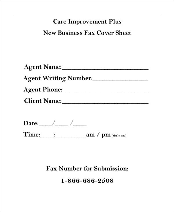 fax cover sheet template download free