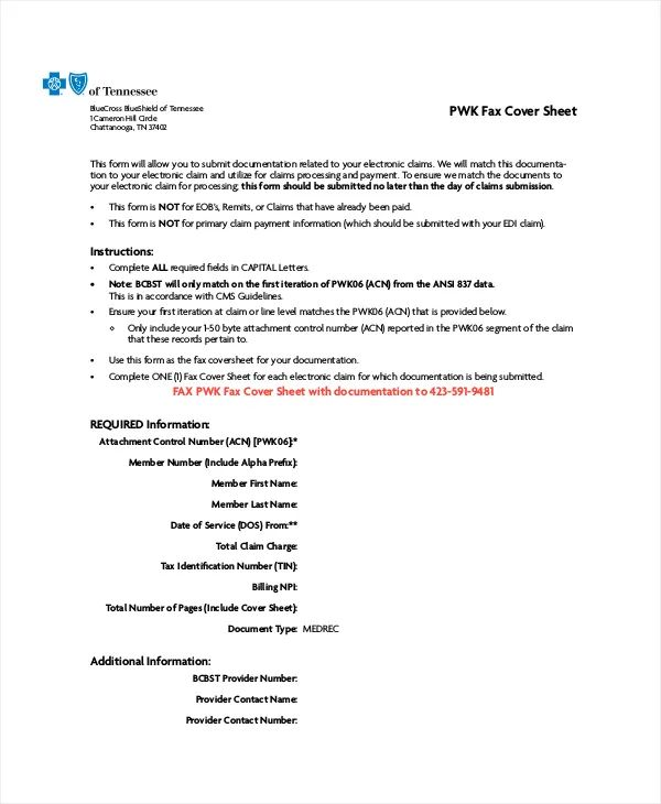 what is a fax cover sheet used for