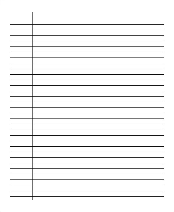 Lined Paper - 10+ Free Word, PDF, PSD Documents Download Free - note paper template
