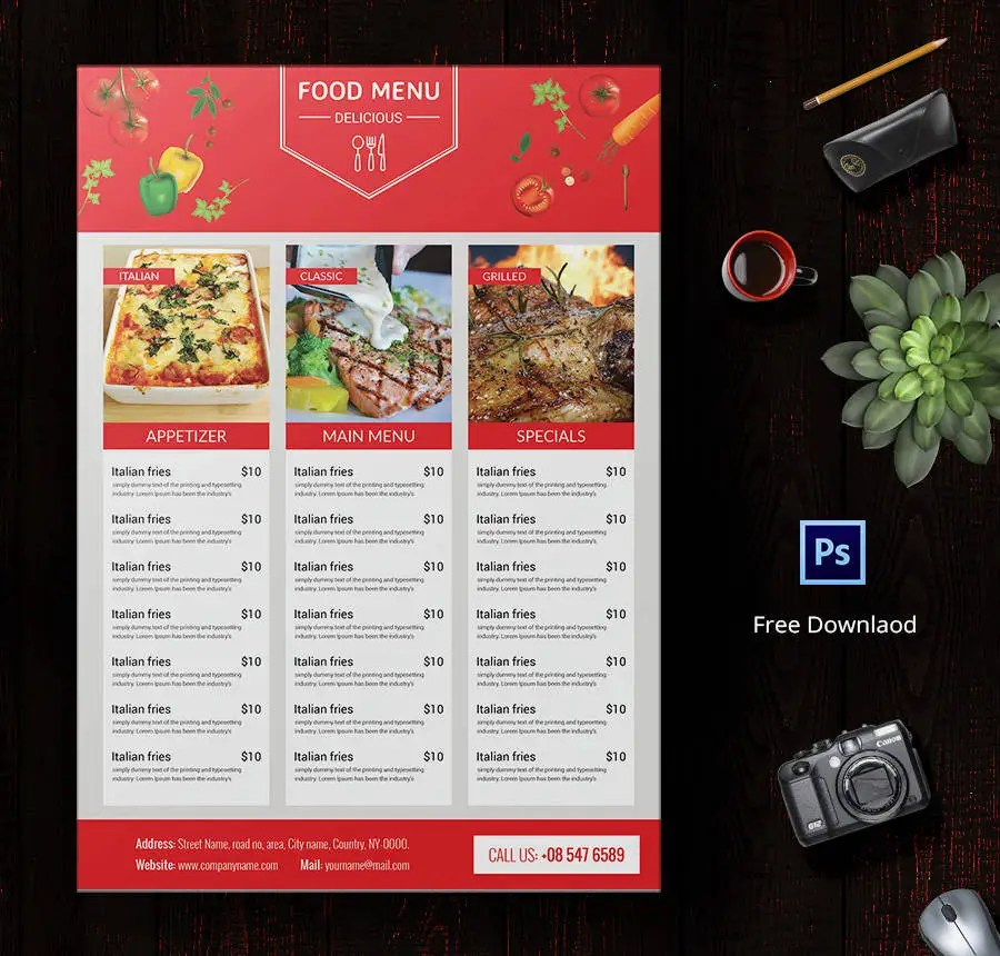 food menu template - Onwebioinnovate - food menu template