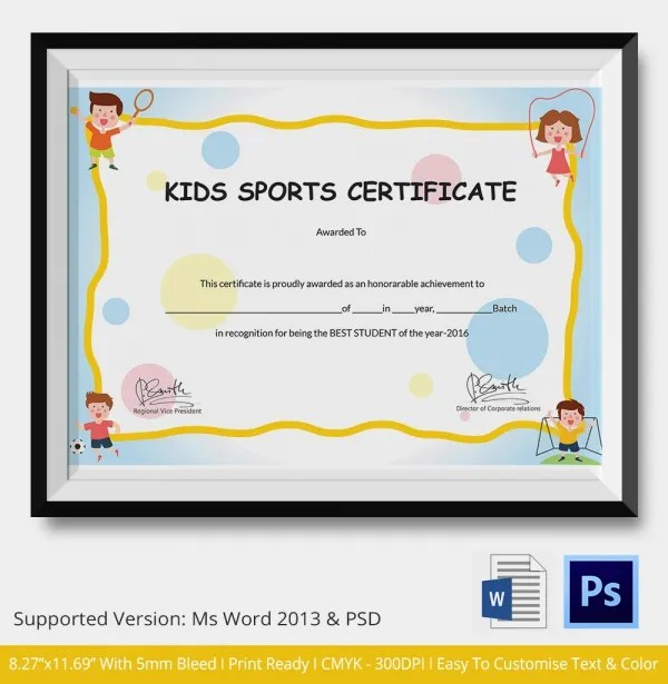 Awesome Sample Certificates For Kids NodeCvresumePaasproviderCom