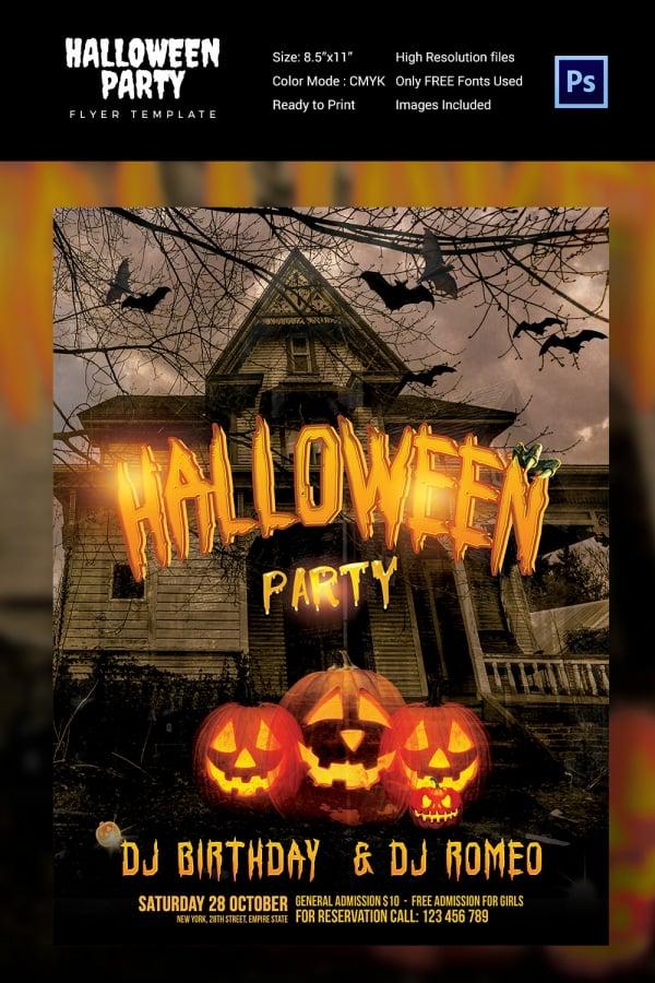 7+ Halloween Flyer Templates- PSD Format Download Free  Premium - halloween flyer template