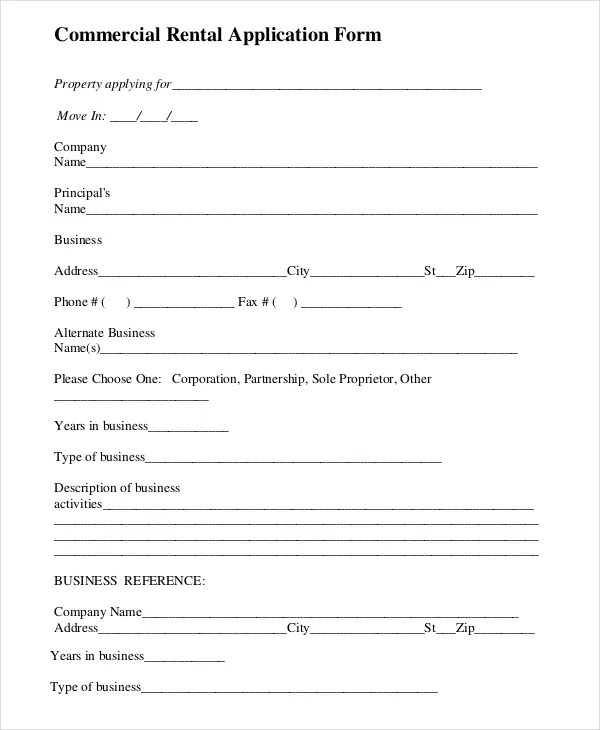 Rental Application Templates - 10+ Free Word, PDF Documents download - Tenant Information Form