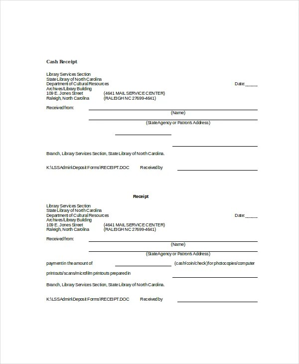 Word Receipt Template - 7+ Free Word Documents Download Free