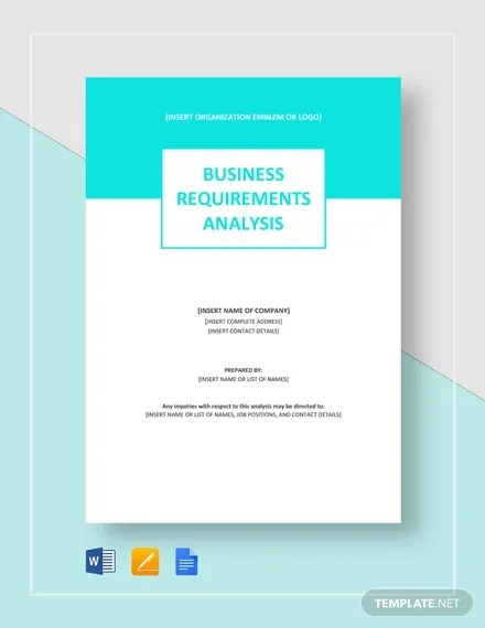 11+ Sample Requirement Analysis Templates - PDF, Word Free