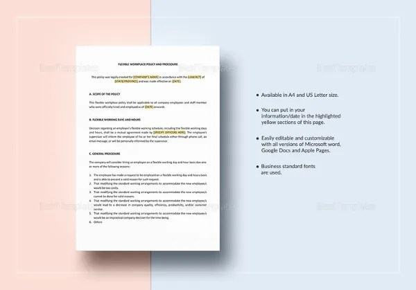 Procedure Template - 8+ Free Word Documents Download Free - policy and procedure template