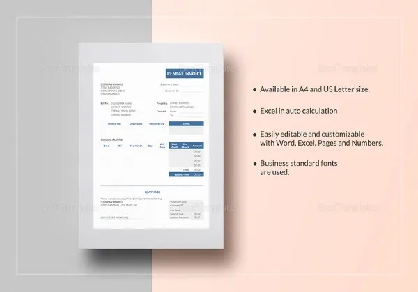 Travel Agency Invoice Template - 14+ Free Word, PDF Documents - pages invoice template