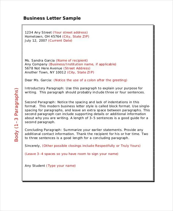 Business Letter Format - 12+ Free Word, PDF Documents Download - business letter example