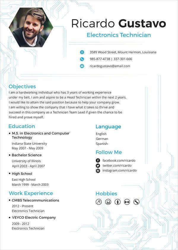 resume format doc engineer