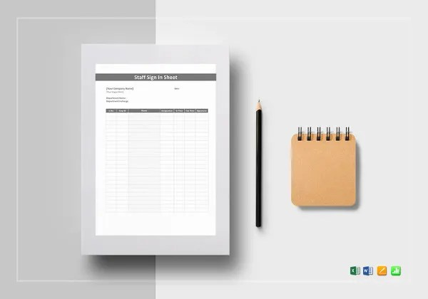 Sign In Sheet - 24+ Free Word, Excel, PDF Documents Download - excel sign in sheet template
