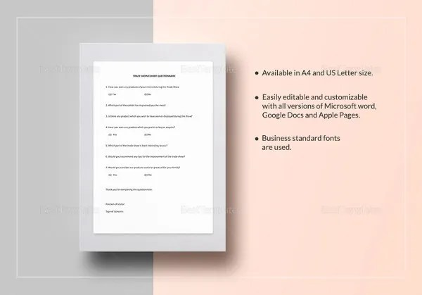 Questionnaire Template Word - 9+ Free Word Document Downloads Free - stationery for word documents