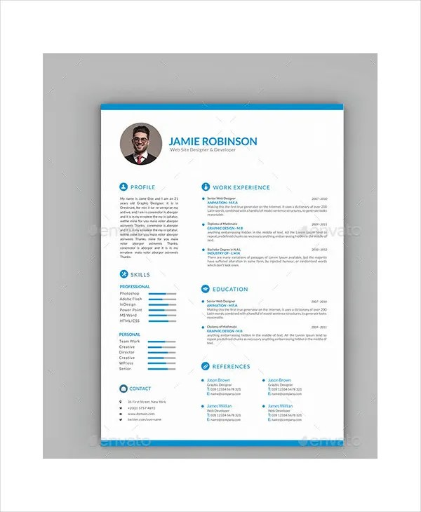 Resume Template Word - 10+ Free Word Documents Download Free