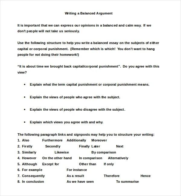 8+ Argumentative Essay Examples Free  Premium Templates