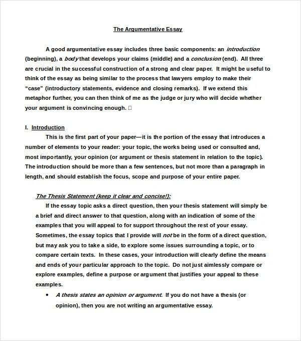 example for argumentative essay - Josemulinohouse