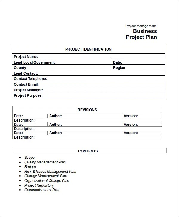 Project Plan Template - 10+ Free Word, PDF Document Downloads Free