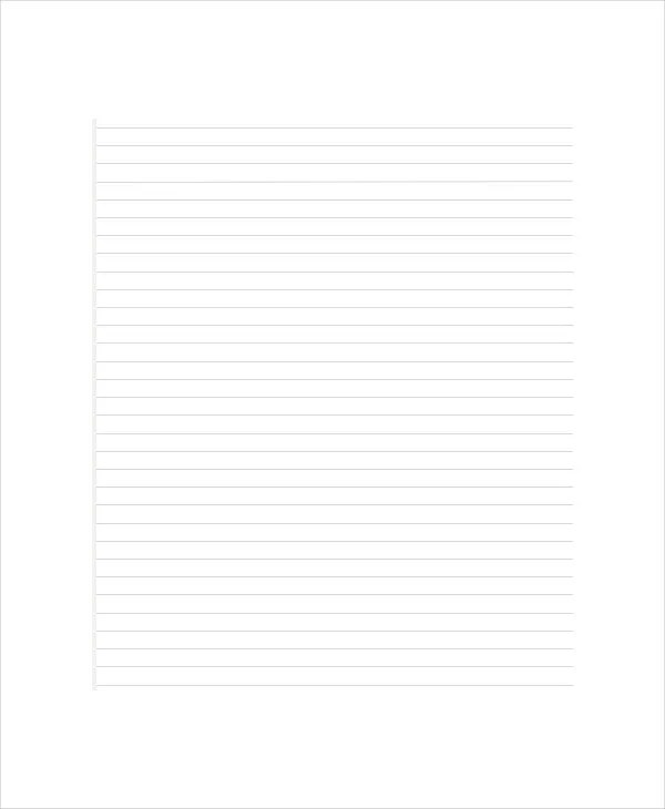 Lined Paper Templates - 6+ Free Word, PDF Documents Download Free - lined paper template