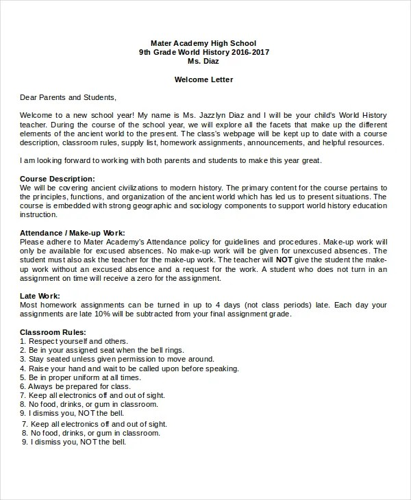 template for welcome letter - Boatjeremyeaton - sample welcome letter