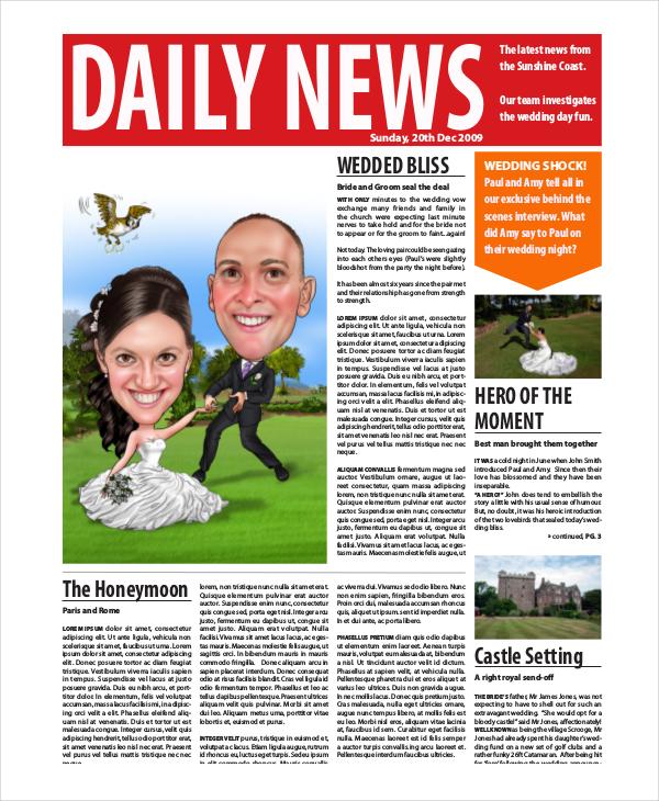 Newspaper Template - 9+ Free Word, PDF Documents Download Free - online newspaper template