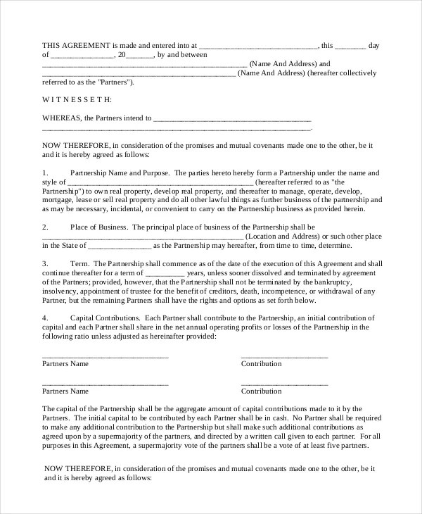 business partner agreement - solarfm