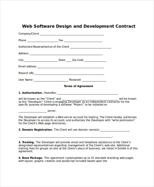 Contract Template - 13+ Free Word, PDF Document Downloads Free
