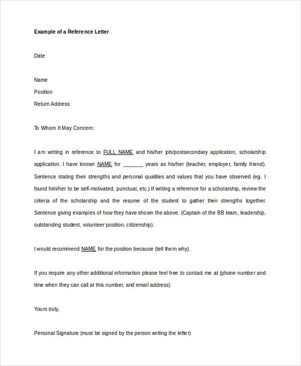 Recommendation Letter - 9+ Free Word, PDF Documents Download - leadership recommendation letter